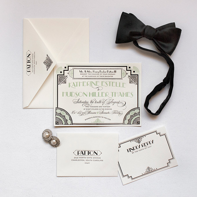 Gatsby | Lucky Luxe Couture Correspondence | Letterpress Wedding ...