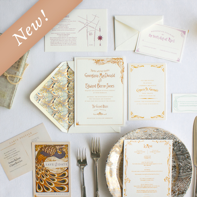 our wedding invitation designs  lucky luxe couture correspondence, Wedding invitations