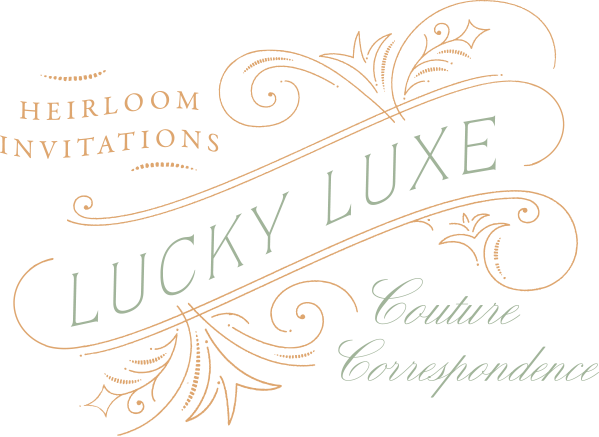 Lucky Luxe Letterpress Wedding Stationery
